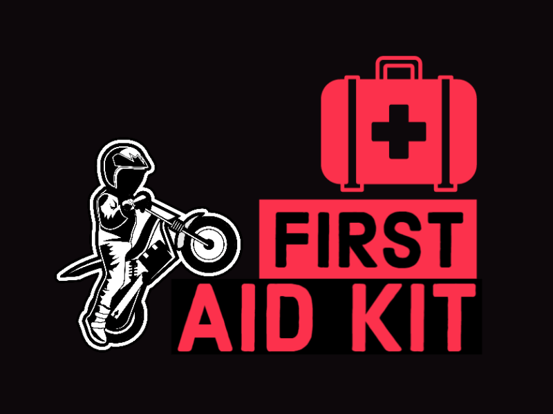 What to pack in your first aid kit, when riding motorcycle Trials