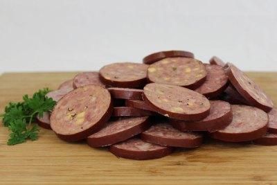 sliced summer sausage