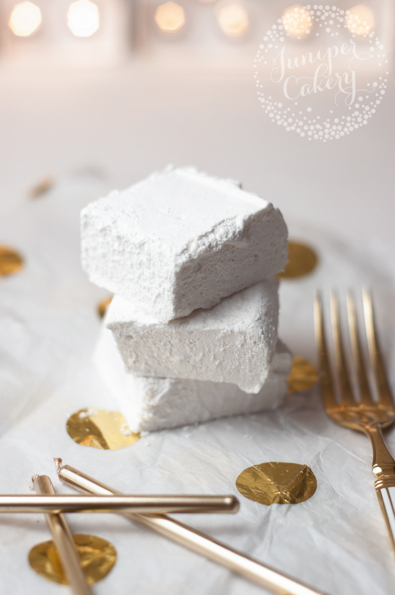 Homemade vanilla marshmallows by Juniper Cakery