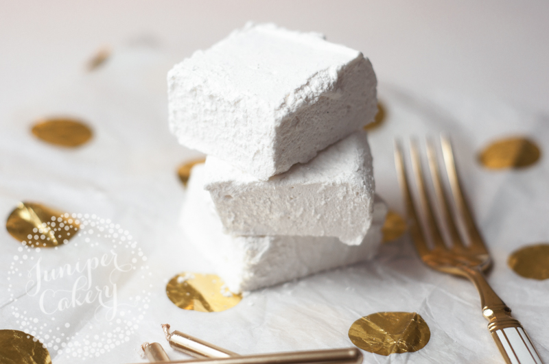 Easy vanilla marshmallow recipe by Juniper Cakery