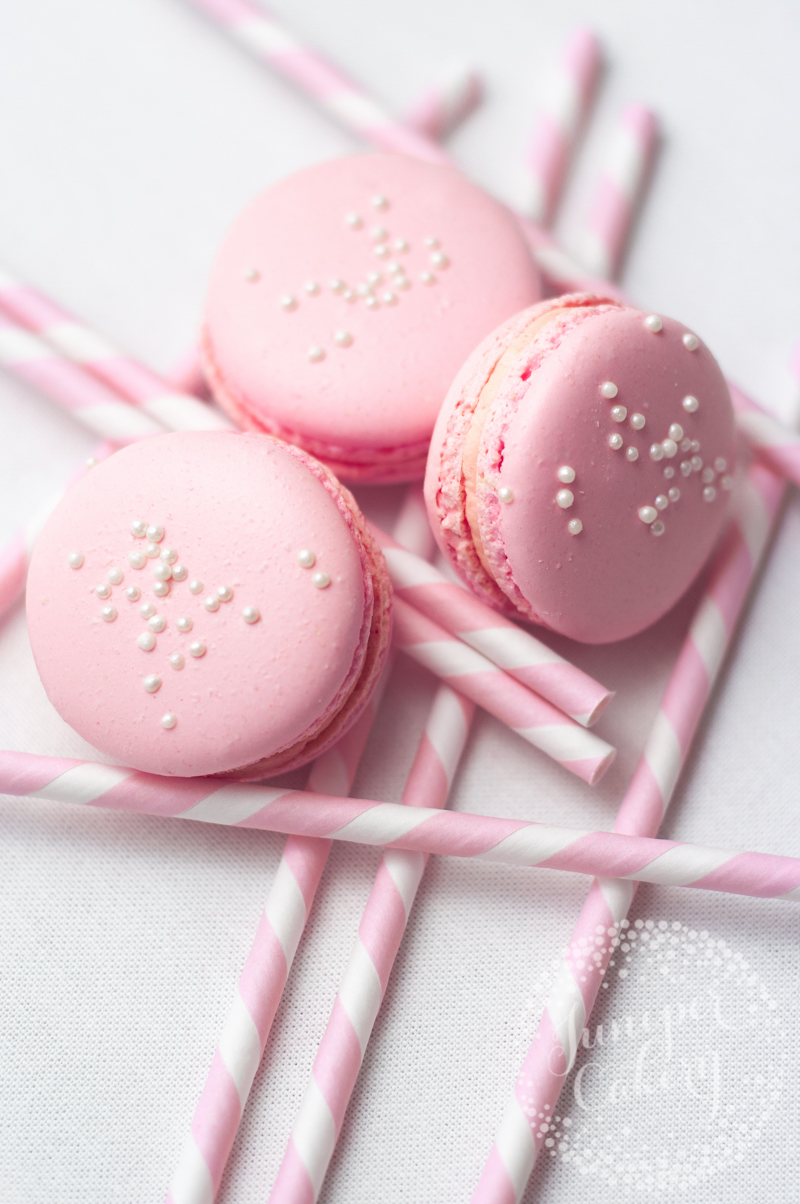Pink Lemonade macarons by Juniper Cakery