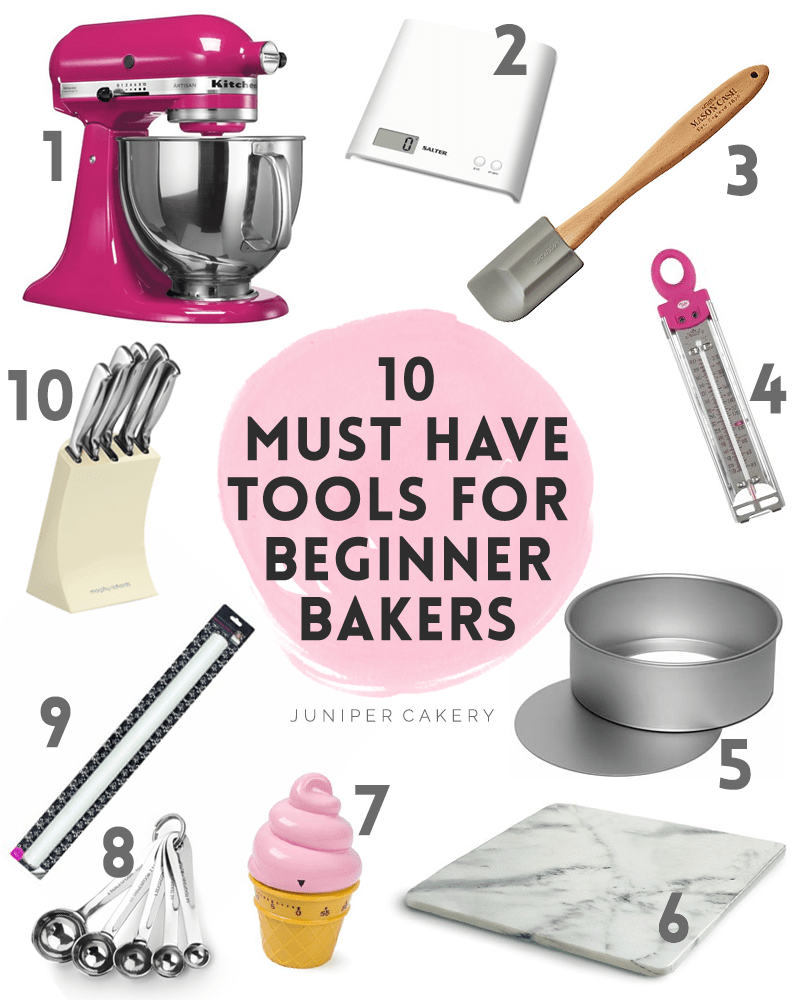 Top 10 must have baking tools for beginner bakers