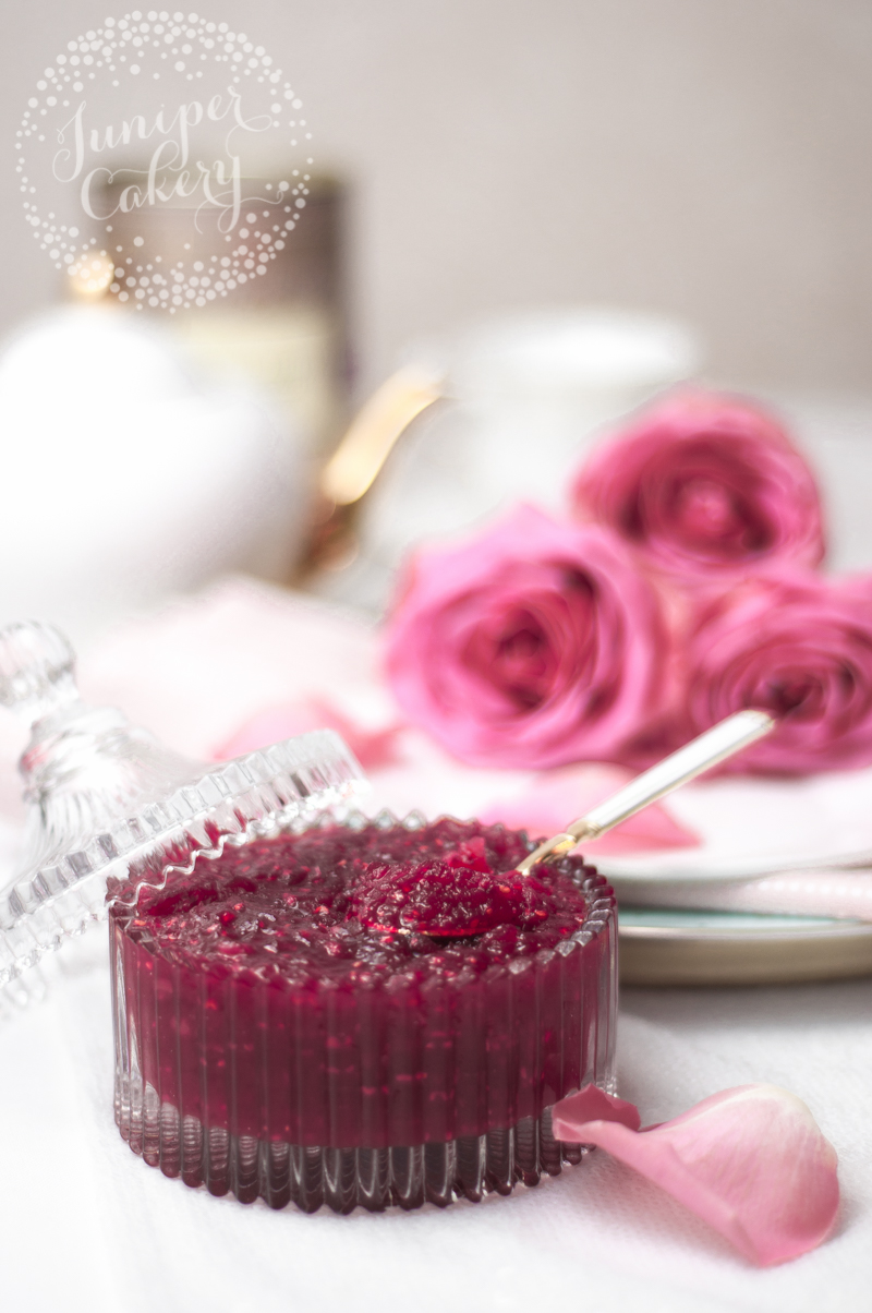 Delicious and easy raspberry curd recipe by Juniper Cakery