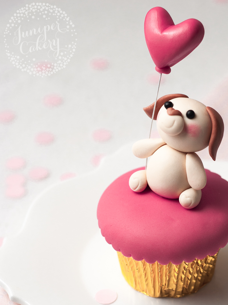 Valentine's Day Puppy Love cupcake tutorial by Juniper Cakery
