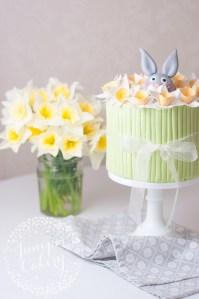 Easter Rabbit and Daffodil Cake via the Tala blog!