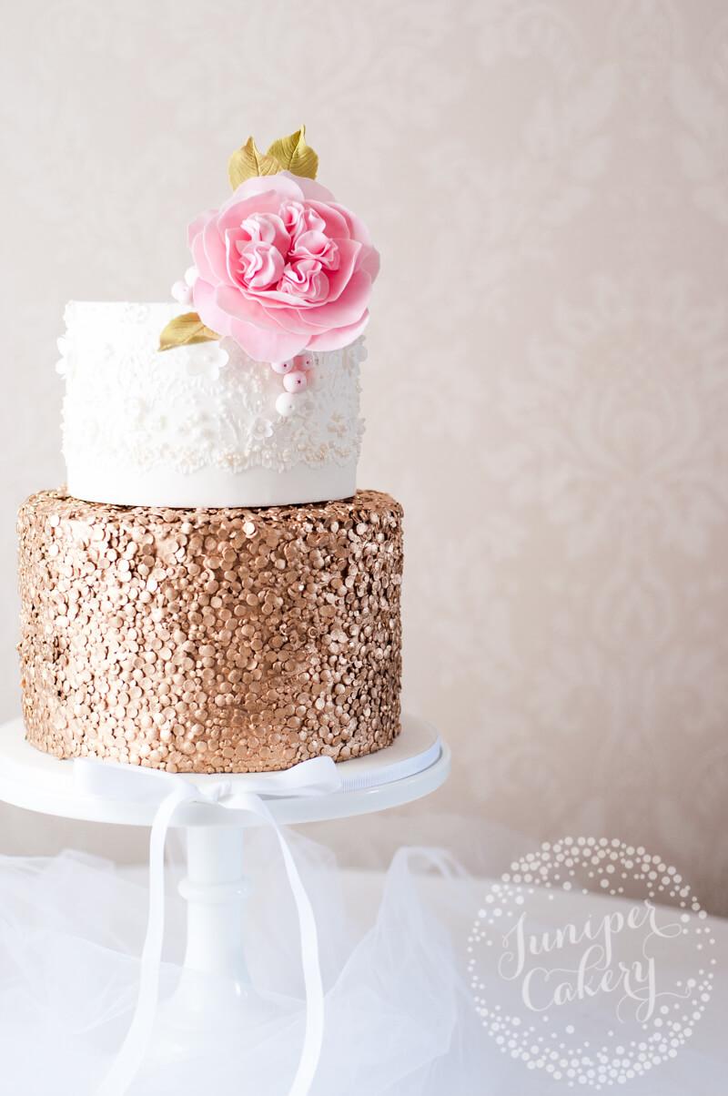 Sequin gold wedding