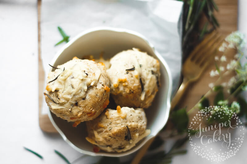 Rosemary, black pepper and cheddar cheese scones recipe