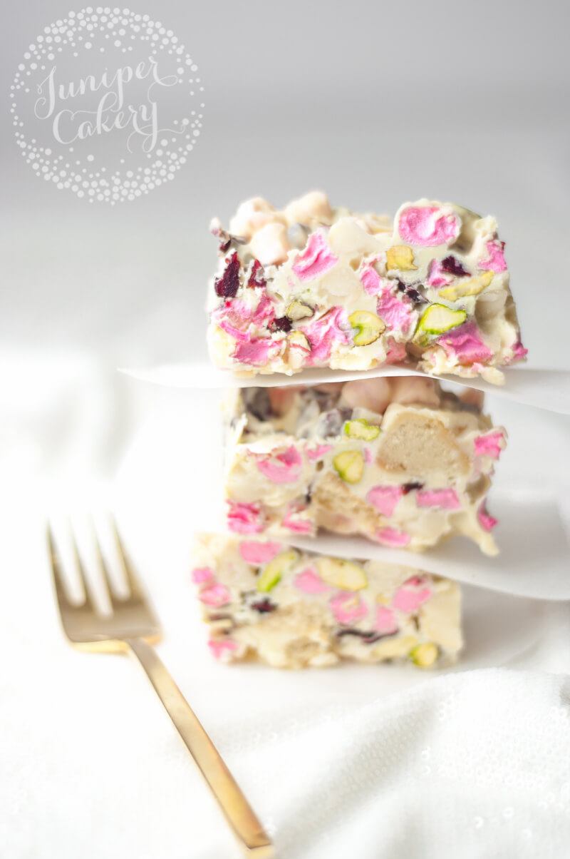 Rocky road with white chocolate by Juniper Cakery