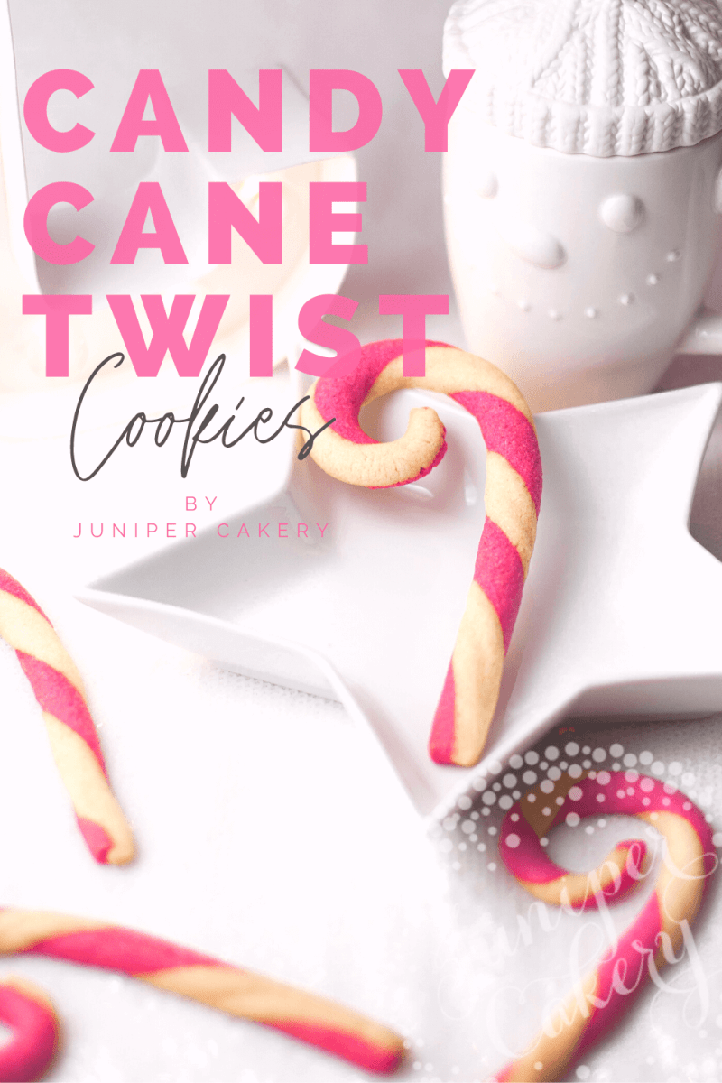 Candy Cane cookies by Juniper Cakery