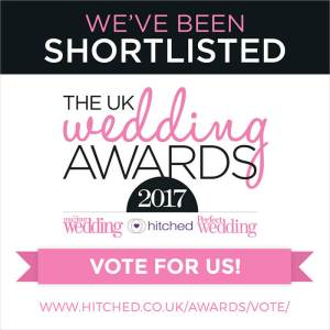 We've Been Shortlisted in The UK Wedding Awards 2017!