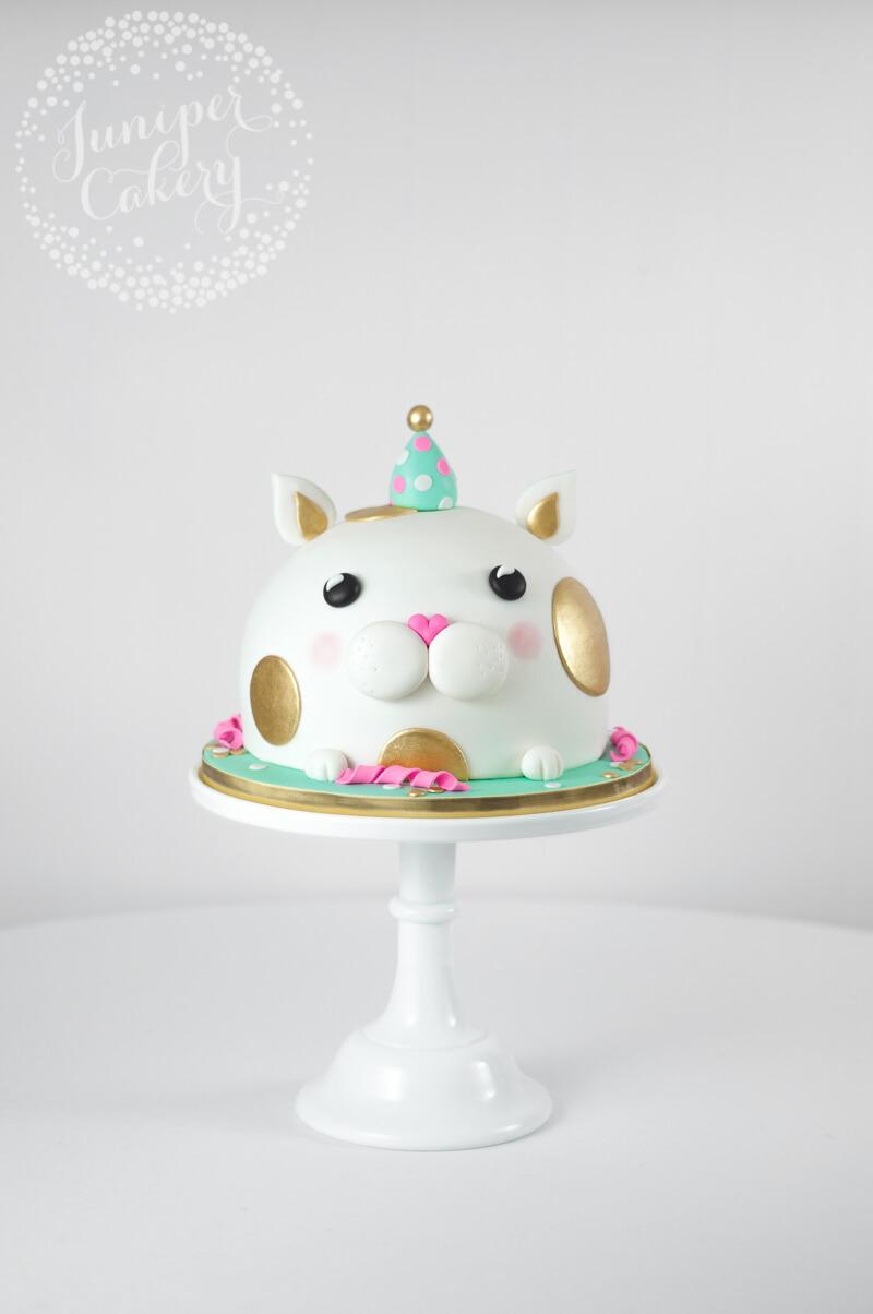 Phenomenal Cat In A Party Hat Birthday Cake By Juniper Cakery Juniper Funny Birthday Cards Online Elaedamsfinfo