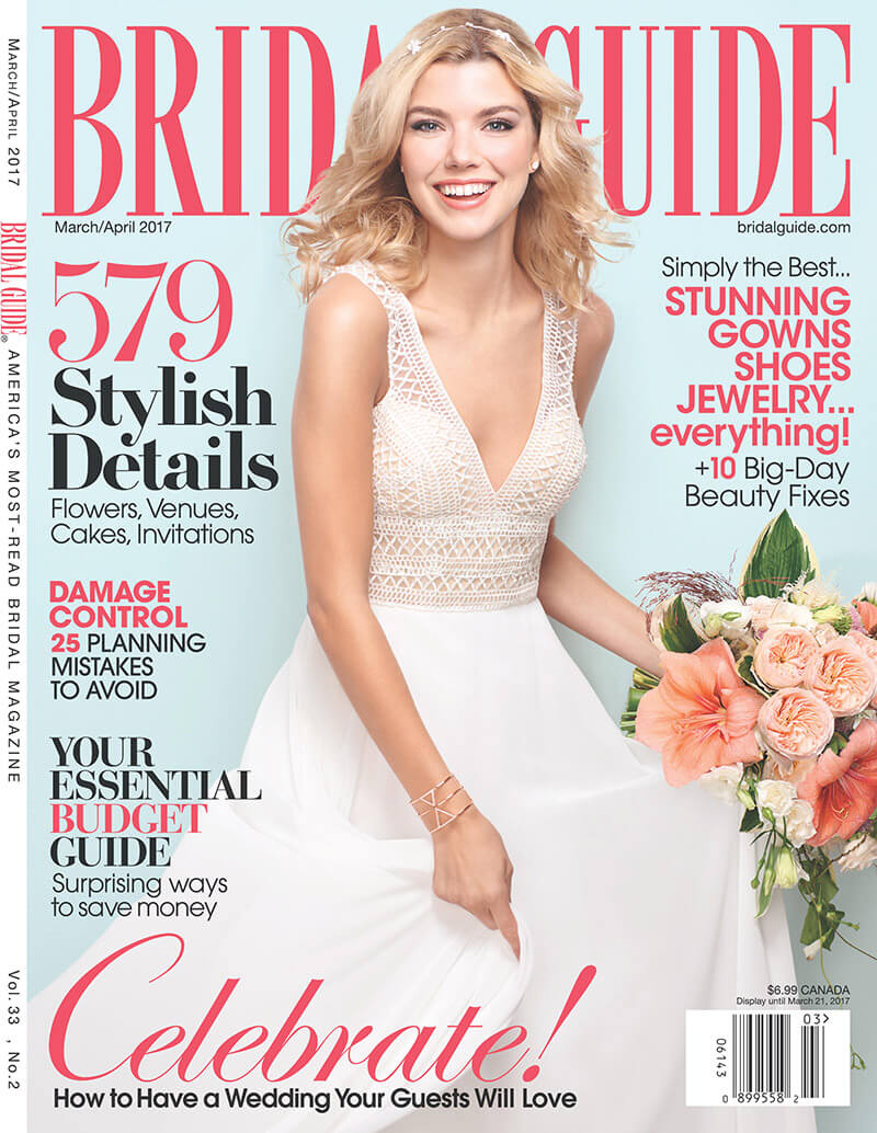 Juniper Cakery in Bridal Guide magazine