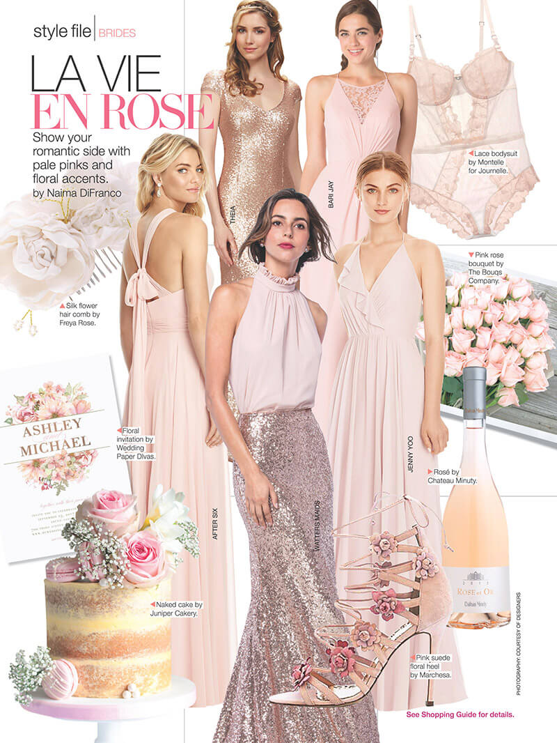 Juniper Cakery featured in Bridal Guide magazine