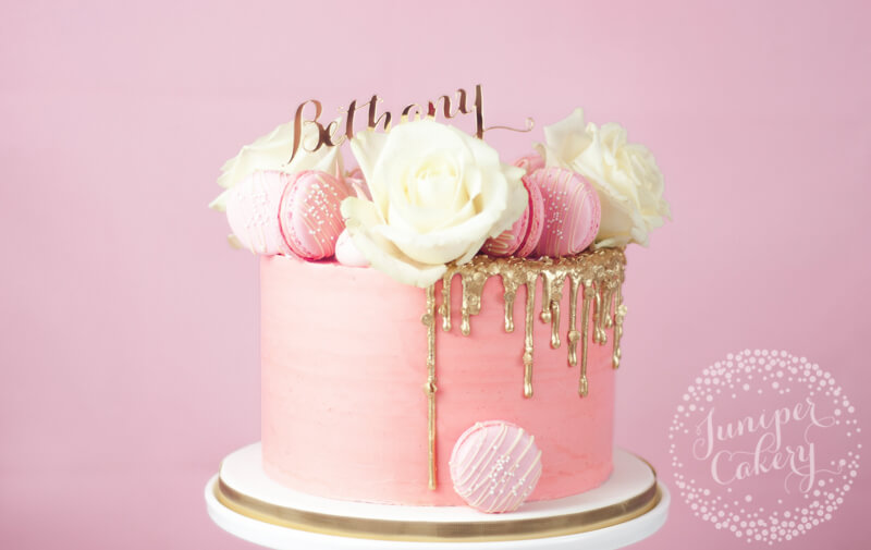Outstanding Pretty In Pink Gold Sequin Drip Cake Funny Birthday Cards Online Necthendildamsfinfo