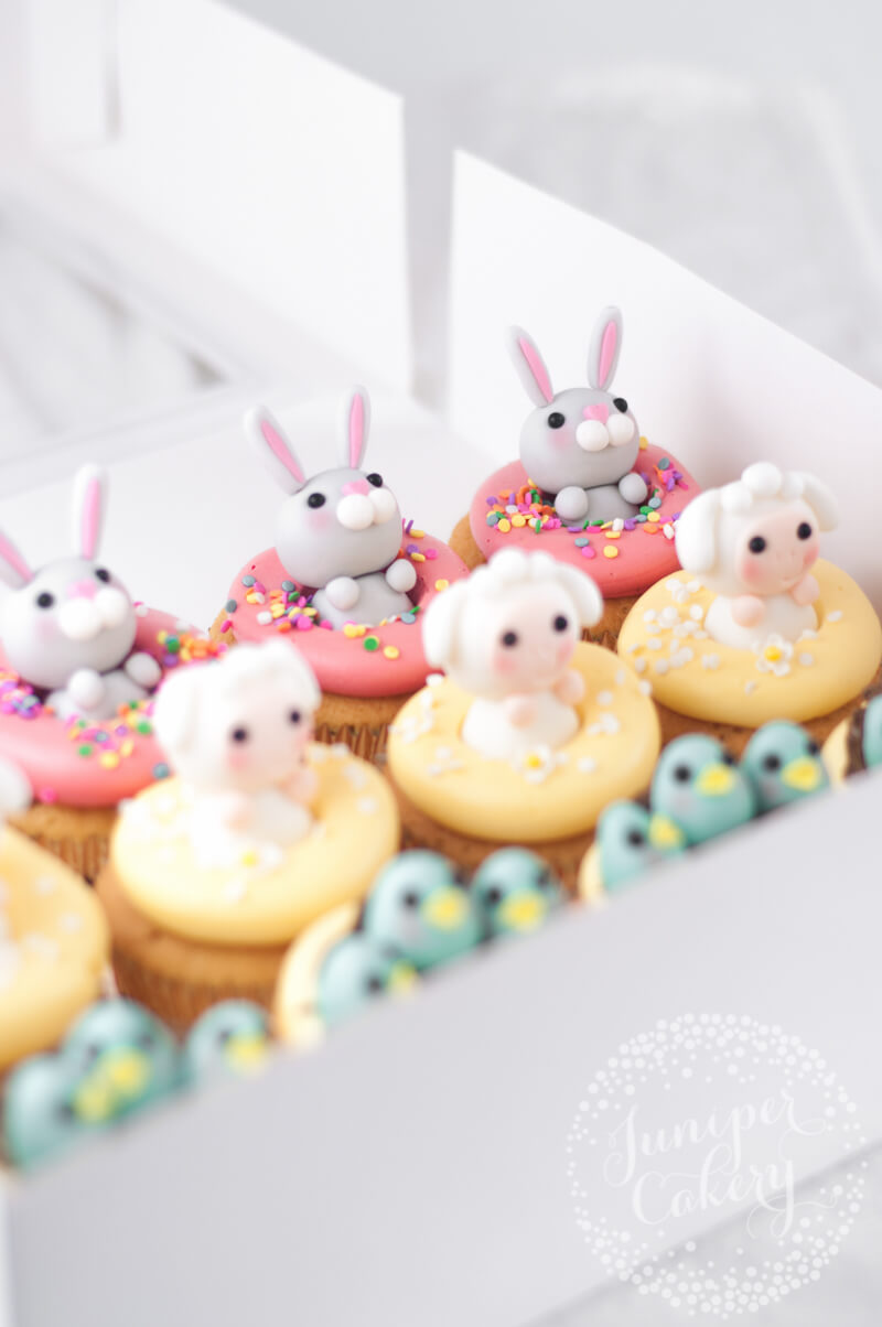 Adorable Easter cupcakes by Juniper Cakery