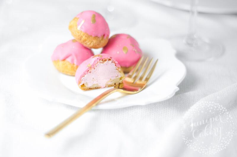 Cute Strawberry Milkshake Cream Puffs recipe by Juniper Cakery