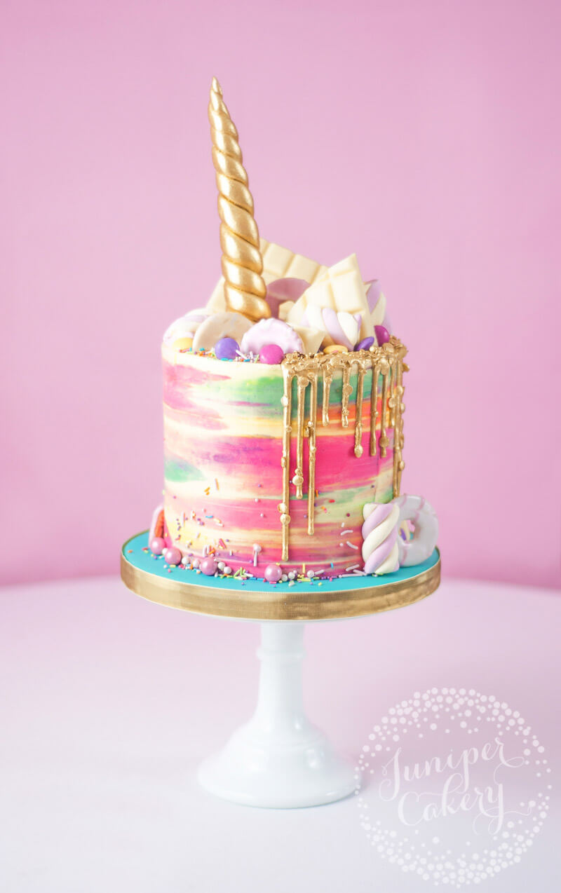 Super Magical Rainbow Unicorn Cake