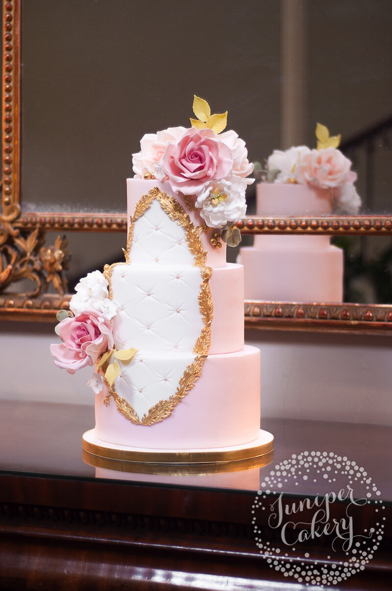 pink rose garden wedding cake rococo wedding cake with sugar roses and peonies by 18583