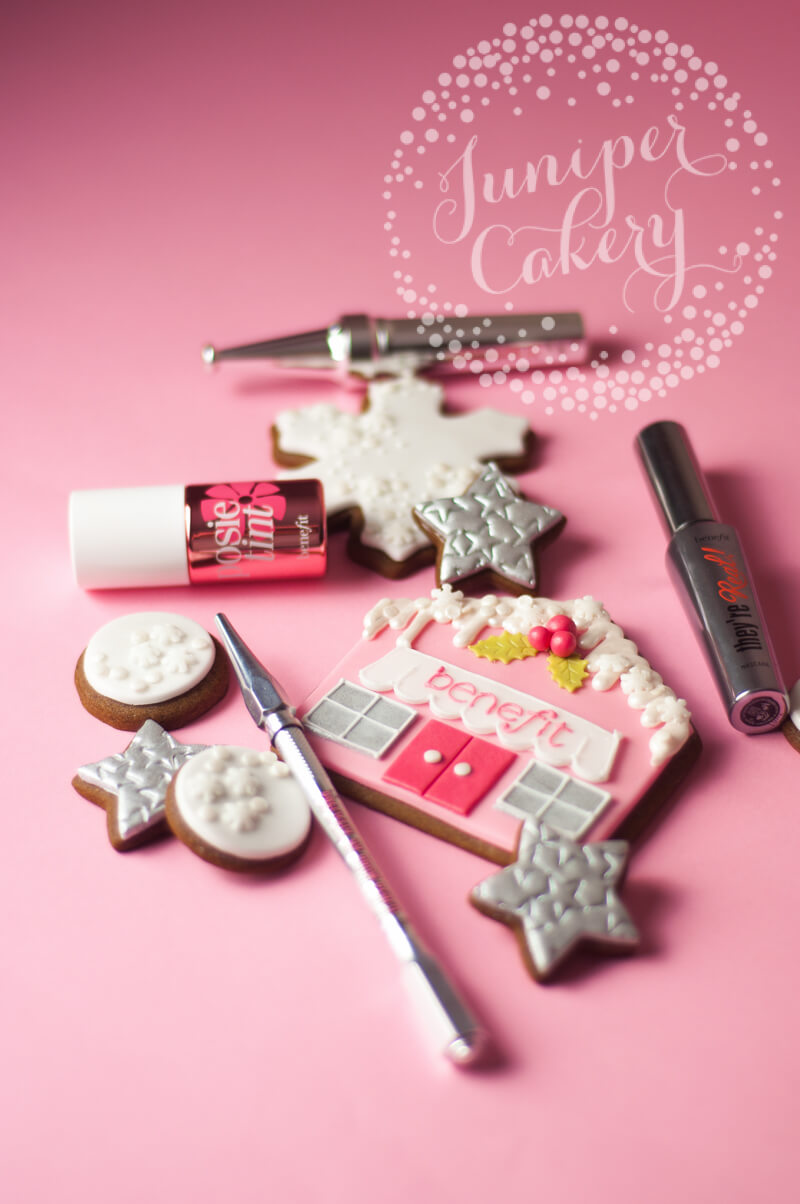 Cute Benefit Cosmetics cookies by Juniper Cakery