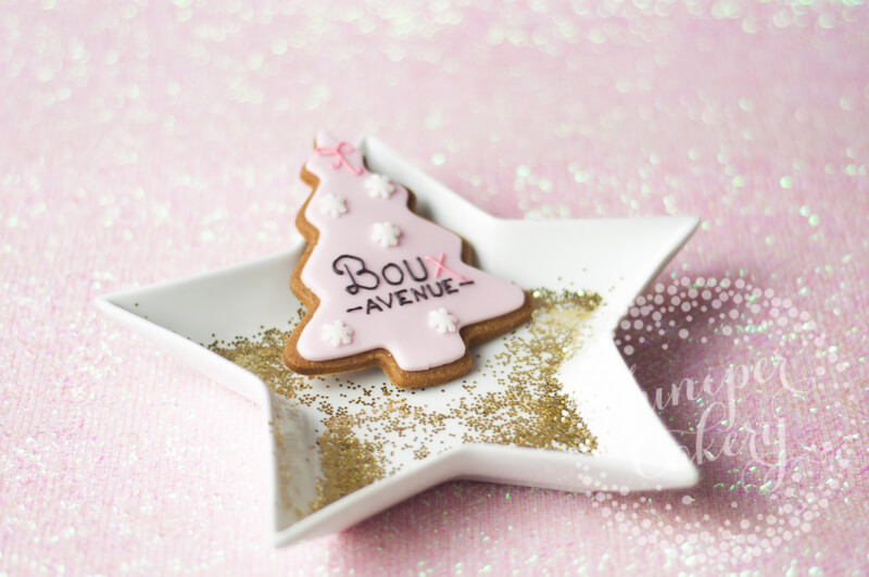 Boux Avenue cookies by Juniper Cakery
