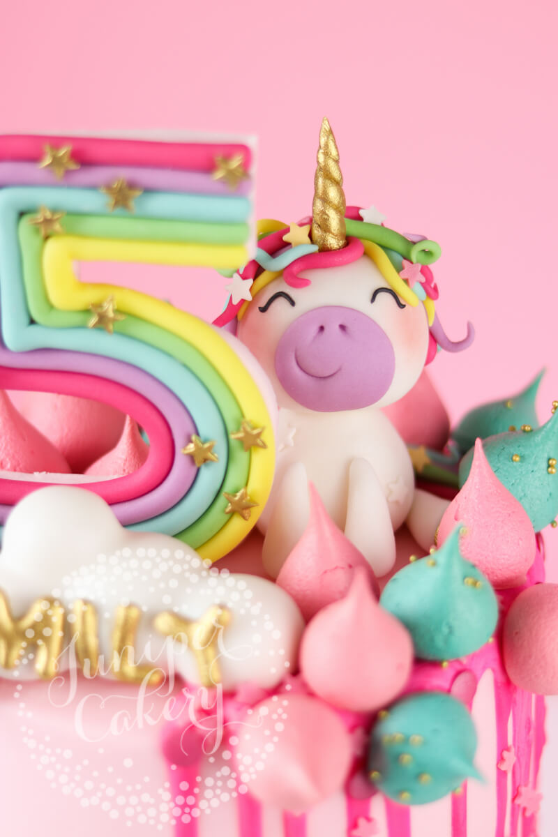 Cute little unicorn birthday cake by Juniper Cakery