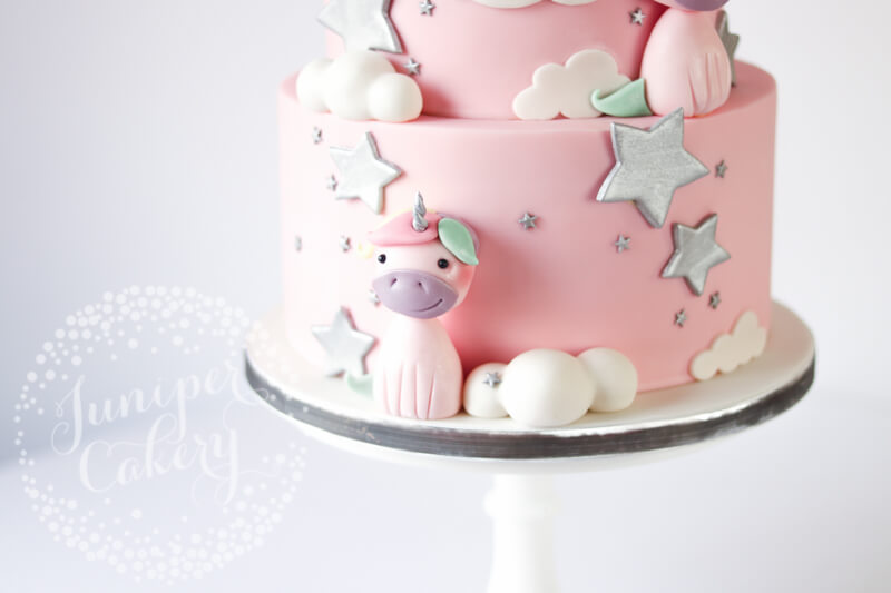 Gorgeous unicorn birthday cake by Juniper Cakery
