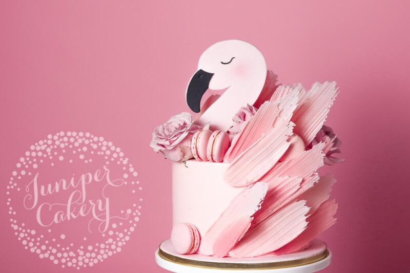 Pink flamingo cake by Juniper Cakery