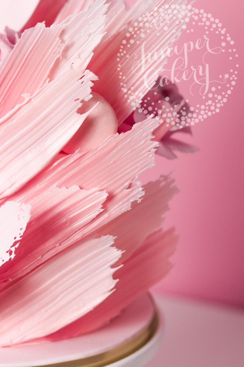 Candy melt flamingo cake by Juniper Cakery