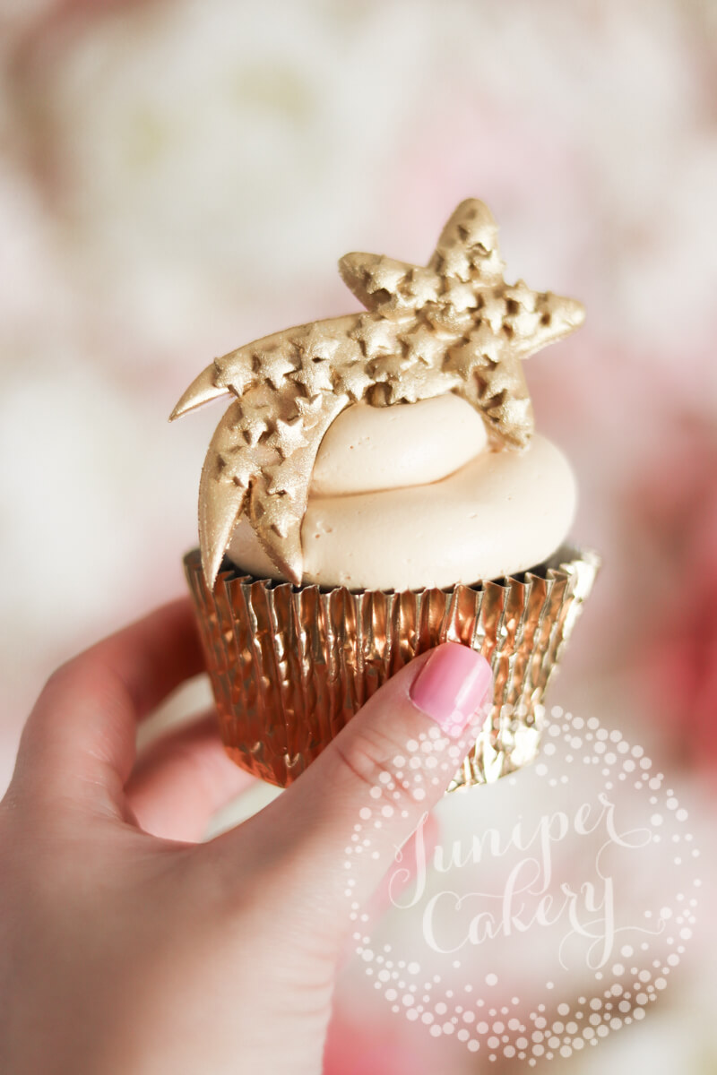 Shooting star cupcake by Juniper Cakery