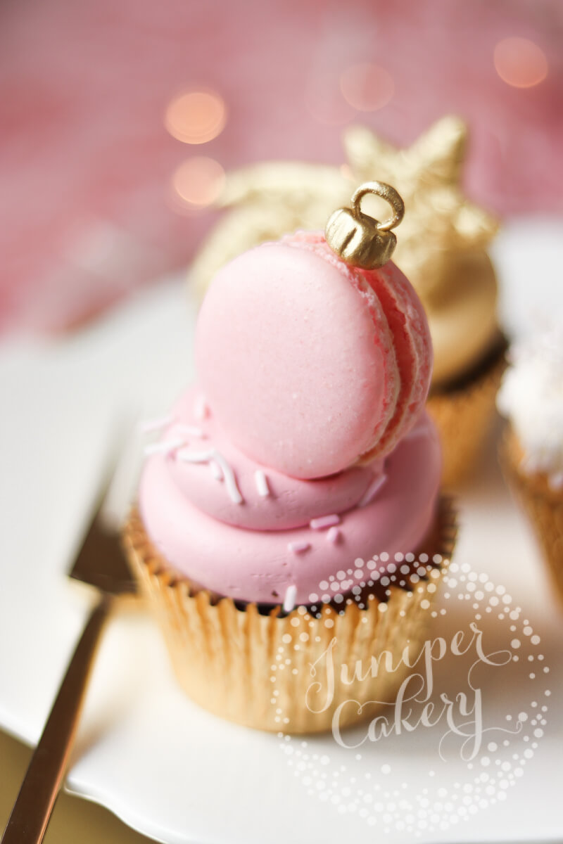 Pink festive cupcake from Juniper Cakery