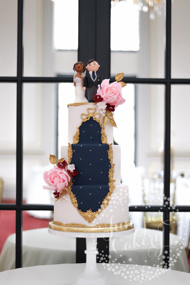Rococo Wedding Cake by Rise Hall by Juniper Cakery