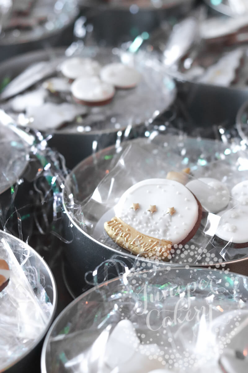 Olivia Burton London cookies by Juniper Cakery for the holiday season