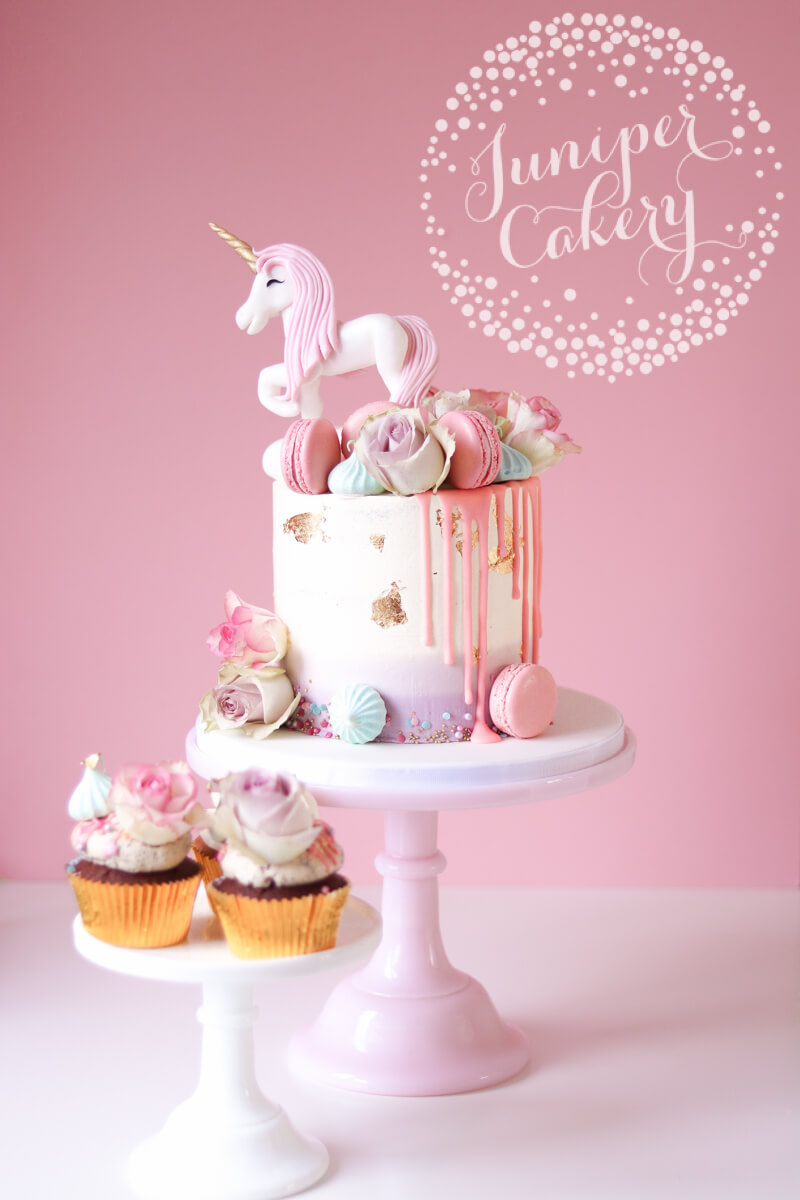 Pretty Unicorn Birthday Cake by Juniper Cakery