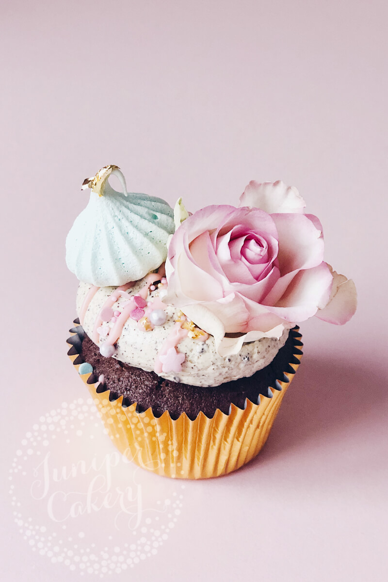 Pretty pastel unicorn cupcake by Juniper Cakery