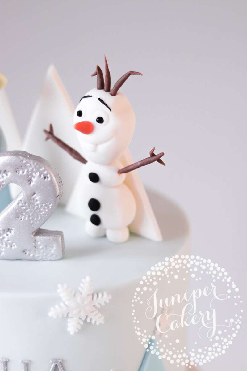 Olaf from Frozen on a cute birthday cake by Juniper Cakery
