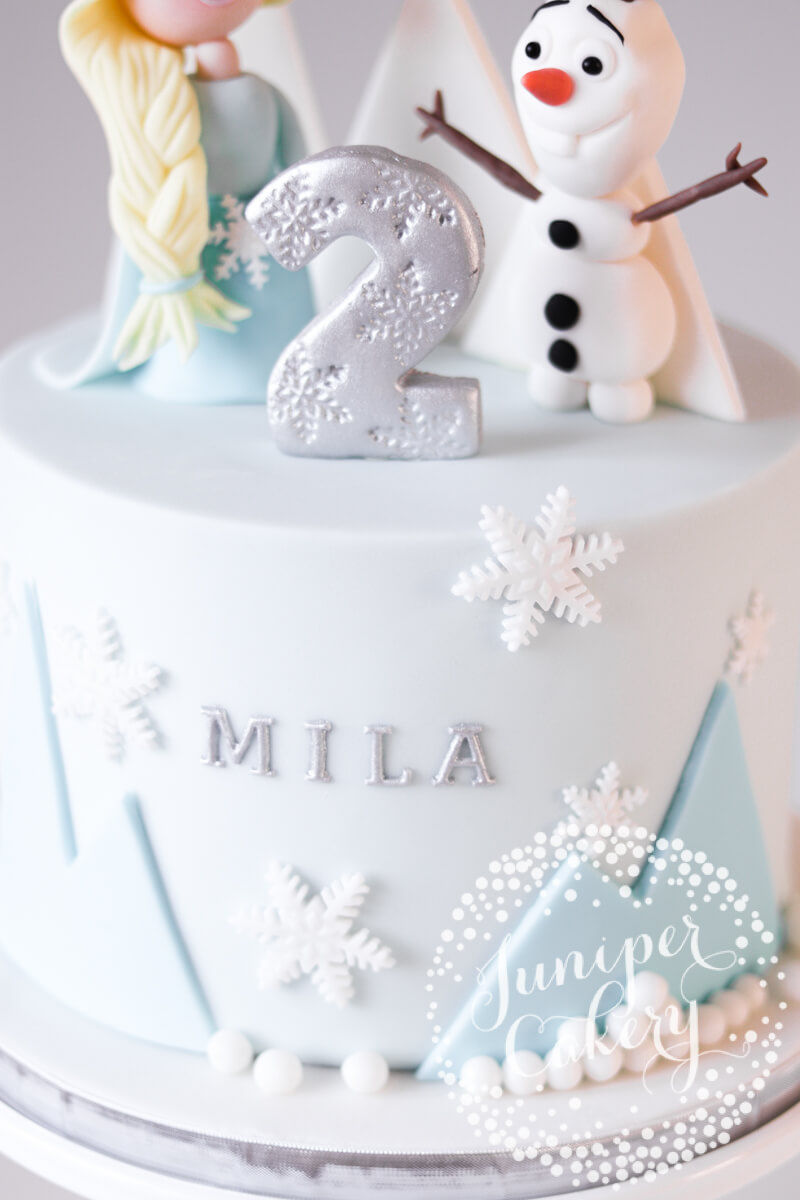 Amazing Frozen birthday cake by Juniper Cakery