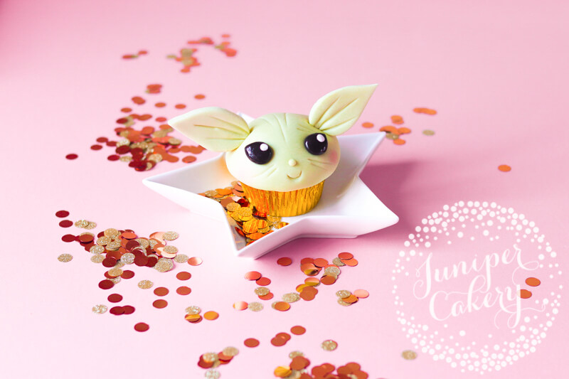 Sweet Baby Yoda cupcake tutorial by Juniper Cakery