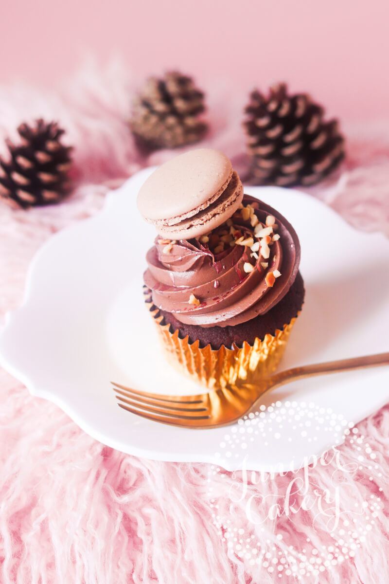 Nutella Stuffed Cupcake by Juniper Cakery