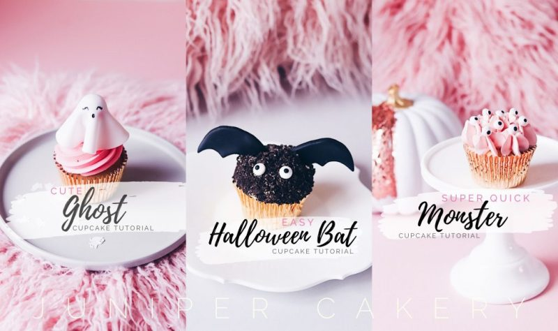 Halloween cupcake decorating tutorials by Juniper Cakery