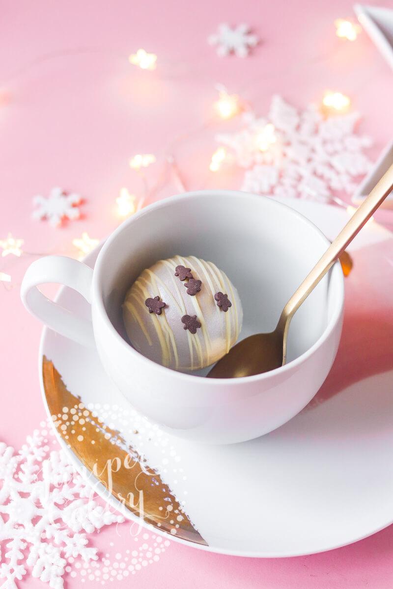 Hot Cocoa Bombe by Juniper Cakery