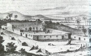 The Mission of Nuestra Señora de Loreto (Our Lady of Loreto) as it was during Serra's time.