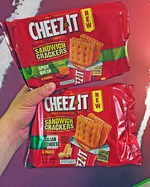 MICROREVIEW New CheezIt Italian 4 Cheese Spicy Queso