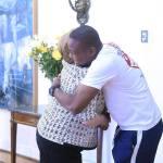 Richard Joseph, rencontre la présidente chilienne Michelle Bachelet après son acte héroïque 34