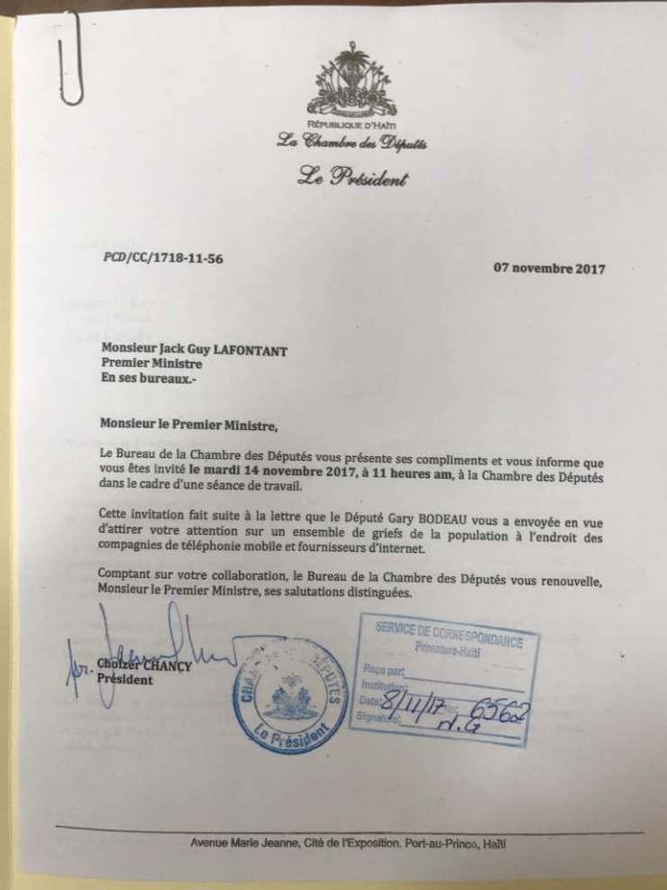 Haïti : Le premier ministre Jack Guy Lafontant invité au parlement 32