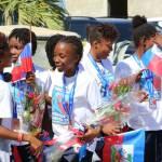 Jovenel Moïse accueille chaleureusement les Grenadières 36