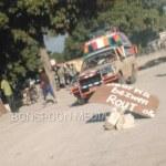 FLASH : La tension monte à Lilavois, des protestataires bloquent la route principale 28