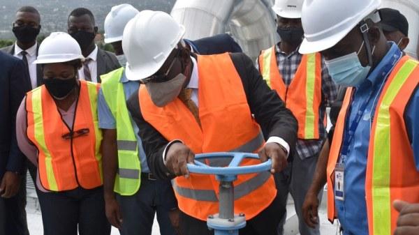 Le PM Joseph Jouthe visite quelques grands travaux d'infrastructures de la DINEPA
