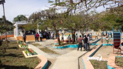 Le BMPAD inaugure la place publique de Sylvestre à Mombin Crochu