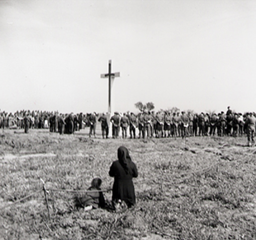 Dedication of Canadian Memorial Cemetery, Ortona a Mare, Italy, 16 April 1944.