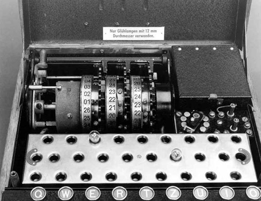 Enigma encryption device.